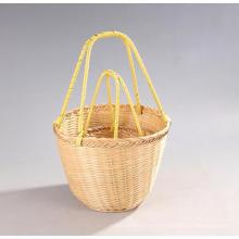 Бамбуковая корзина для покупок высокого качества ручной работы (BC-NB1029)