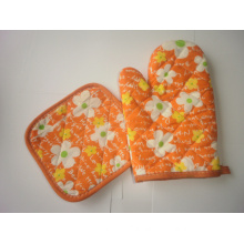 Printed Microwave Oven Glove with Heat Mat