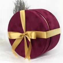 Paquete de caja de regalo de cuero sintético de pu tejido