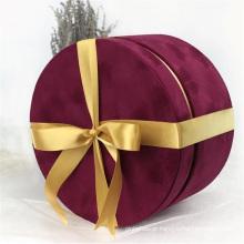 Pacote de caixa de presente de couro sintético de tecido Pu