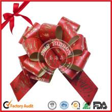 Paquete de regalo de estilo floral POM POM lazo de cinta de Navidad