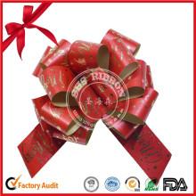 Paquet cadeau de style floral POM POM Noeud ruban de traction