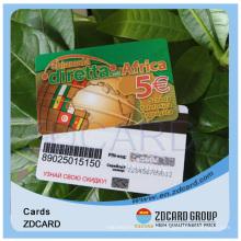 Transparente Kunststoff-PVC-Visitenkarte