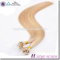 Оптовая цена человеческих волос девственницы микро-кольцо наращивание волос