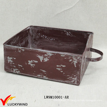 Type de tiroir Chic Colored Rustic Planter Boxes Metal