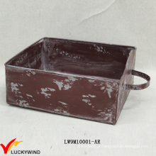 Gaveta Style Chic Colorido Rústico Plantador Boxes Metal