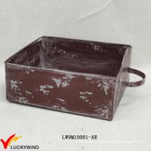 Ящик стиля Шикарный цветной деревенский плантатор коробки Металл