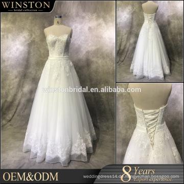 Guangzhou Supplier traditionellen Hochzeitskleid abnehmbare Zug