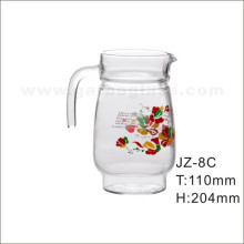 Glass Pitcher with Flower Decal (JZ-8C)