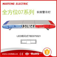 Barre lumineuse d'avertissement LED rouge et bleue avec alarme 80W (TBD075521)