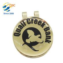 Logotipo personalizado Impreso de alta calidad magnética Golf Ball Marker Hat Clip
