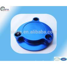 billet clamps anodized blue aluminum cover cap of cnc machining parts