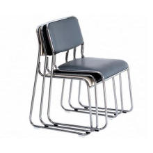 Plastic Stackable Chair with Chromed Steel