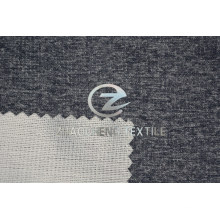 Two Tone Fake Woolen Velvet Bonded Knitted Fabric for Clothes, Trousers and Sofa Use