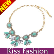 Hot Selling High Quality Baby Blue Spring Girl Lovely Necklace Fashion Accessories (EN0018C)