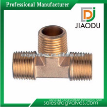 made in china high quality 3 way or 4 way brass hydraulic pipe fitting tee