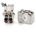 Chaussures Forme Perles De Métal Avec Antique Argent Plaqué Vente De Perles De Métal 2014 Nouvelle Arrivée