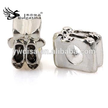 Sapatos Shape Metal Beads Com Antique Silver Plated Atacado Metal Beads 2014 Chegada Nova