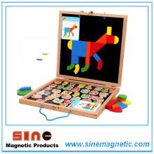 Log Magntic Puzzle Двойная доска для рисования Woodern Toys