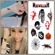 Tema de Halloween, suministros de tatuaje de precio competitivo
