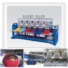 Máquina de bordar de alta velocidade de 6 cabeças para bordado de boné / t-shirt
