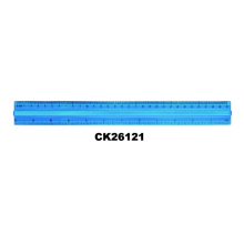 30CM Blue Aluminium Metal Scale Ruler