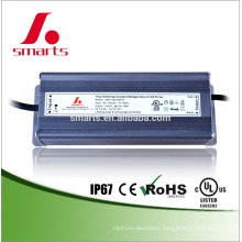 CE ETL FCC listed IP67 aluminum 24v 60w triac dimmable led driver