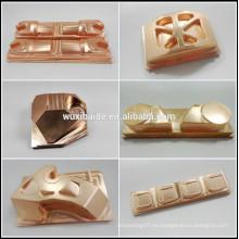 Mecanizado CNC de precisión de latón personalizado, piezas de latón de encargo del torno del CNC, CNC que trabaja a máquina los productos de encargo del latón