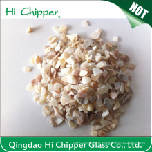 Lanscaping Glass Sand Chips en verre concassé Decorative Glass Sea Shell