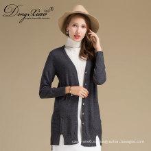 Suéter de cachemira de Mongolia Interior vestido largo mujeres Cardigan con el mejor precio