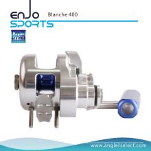 Angler Select Blanche Super Glatt Aluminium / 8 + 1bb Seefischerei Jigging Reel Angelgerät (Blanche 400)