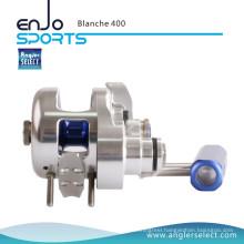 Angler Select Blanche Super Smooth Aluminium / 8+1bb Sea Fishing Jigging Reel Fishing Tackle (Blanche 400)