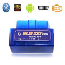 Personnaliser l'Elm327 Bluetooth Adaptateur Super OBD2 Elm327 OBD2 voiture outil de Diagnostic Auto Code lecteur OBD2 pour Android