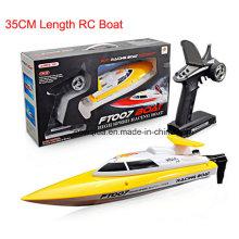 35cm Comprimento 20km / H Canal 4 Vermelho ou Amarelo Barco de Controle Remoto
