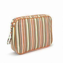 Stripes Printed Cloth Cosmetic Bag, Customized Patterns, Colors and Logos Welcomed
