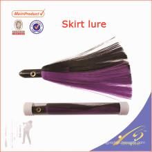 SKL012 nouvelle conception appât artificiel pêche leurre jupe de calamar de silicone
