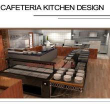 Projecto personalizado Shinelong Design de cozinha para cafeteria