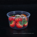 16oz disposable PP clear round plastic bowl food package container