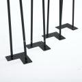 Patas de mesa de muebles de horquilla de café de metal negro