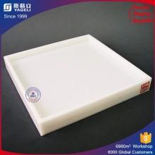 Plateau acrylique blanc polyvalent pour l'affichage / la collecte des aliments