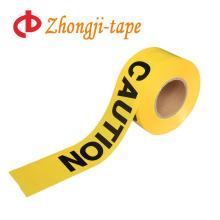 Горячие продаж Non слипчивый желтый PE осторожностью ленты