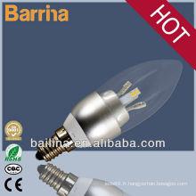 2013 vente chaude 3w led ampoule SMD3014