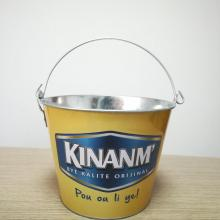 Tin Ice Bucket With Bottle Opener