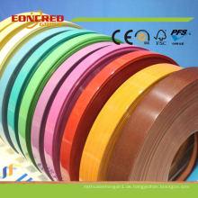 China Beliebte gute Qualität Gummi PVC Rand Band für Sperrholz