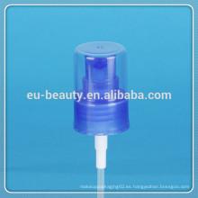 Pulverizador de niebla cosmética 24/410 bomba de pulverización de niebla fina plástico azul