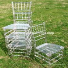 PC Outdoor Clear résine Chiavari Wedding Chair avec coussin