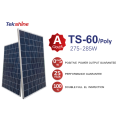 25 years warranty home use polycrystalline 60cells 275w-285w CUSTOM MADE SOLAR PANEL