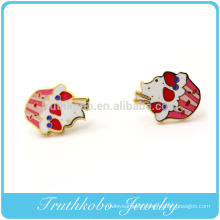 TKB-E0015 New Chritmas Epoxy Mr.cat 316l stainless steel navel belly button earring