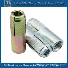 Ancla galvanizada de acero al carbono en ancla (M6-M20)