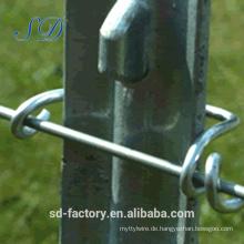 Alibaba Express Made in Hebei Besetzte Stahl T Post für den amerikanischen Markt
